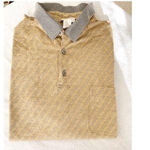 Ermenegildo Zegna Diagonal Stripe Polo Shirt NWOT
